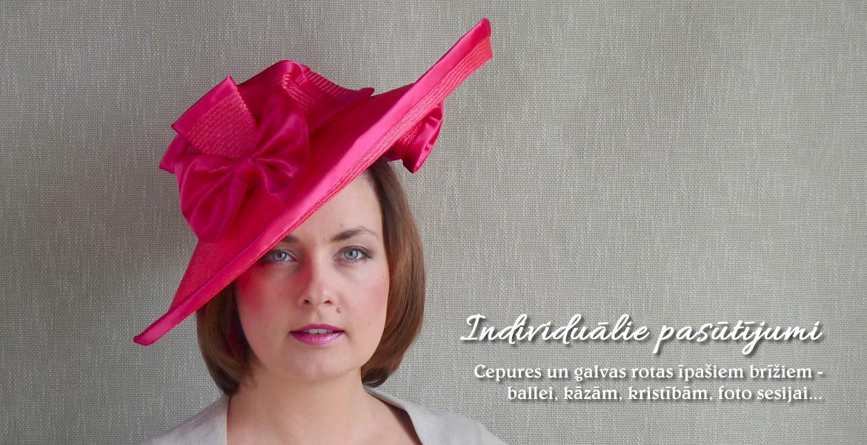 Individuālie pasūtījumi – cepuru darbnīca RUBINA