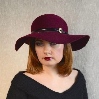 MARGARITA vīna sarkana sieviesu cepure