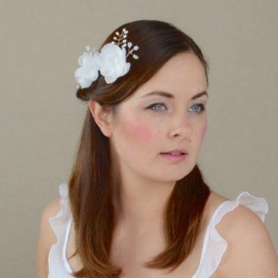 Matu rota līgavai ar zīda ziediem –  MR05