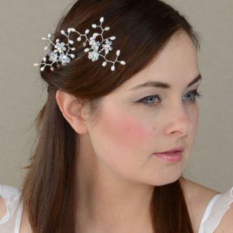 Matu rota līgavai ar pērlēm un Swarovski kristāliem - MR06