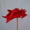 NIKOLA sarkana filca galvas rota ar plīvuru